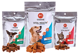 Vivamune Health Chews for Small Dogs, Large Dogs, and Cats